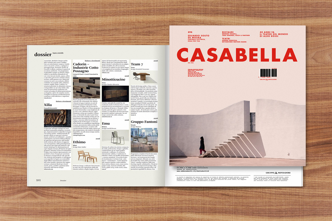 XILIA IS ON THE JUNE'S EDITION OF CASABELLA MAGAZINE
