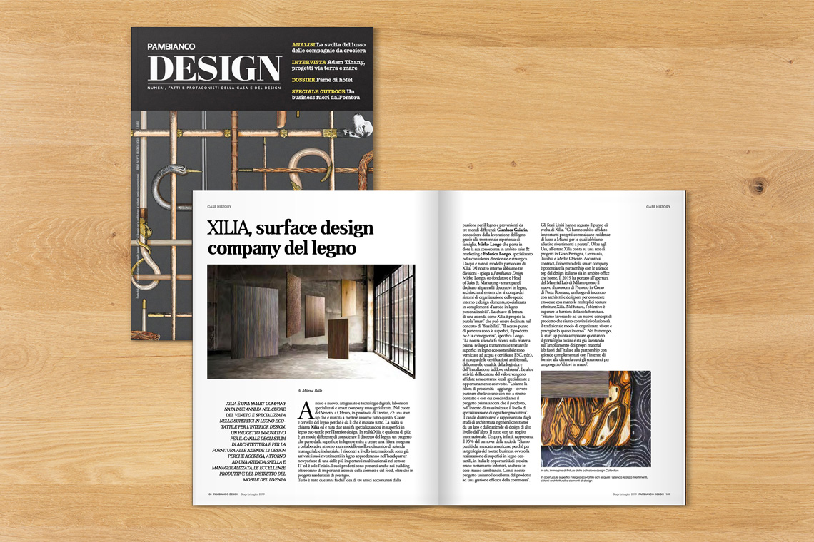 XILIA IS ON THE JULY'S EDITION OF PAMBIANCO DESIGN